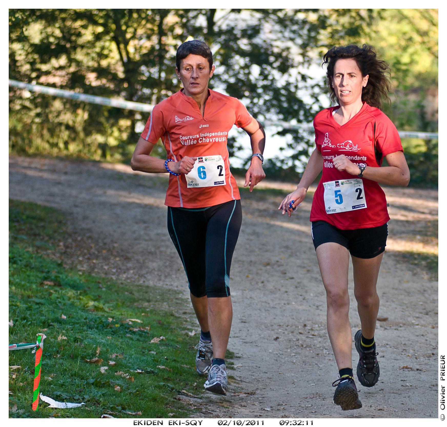 Sylvie, Agnès du CIVC, EKIDEN EKI-SQY 2011