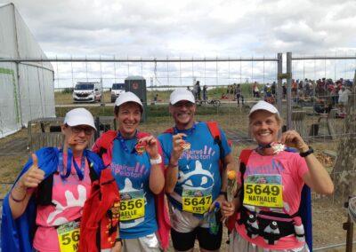 Les 4 nouveaux marathoniens!